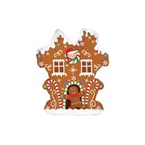 """Christmas Gingerbread House 9"""" Mini Shape Foil Balloon"""