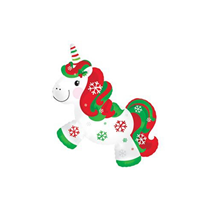 "Christmas Unicorn 12"" Mini Shape Foil Balloon"
