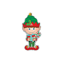 "Christmas Elf 12"" Mini Shape Foil Balloon"