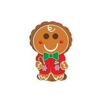 "Christmas Gingerbread Man 9"" Mini Shape Foil Balloon"