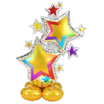 """AirLoonz Colourful Star Cluster 59"""" Foil Balloon"""