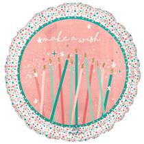 "Sparkle Cake Candles 18"" Birthday Foil Balloon"