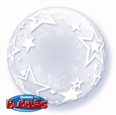 "Stylish Stars Deco Bubble Balloon 24"""