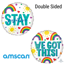 """Stay Positive Double Sided 18"""" Foil Balloon"""