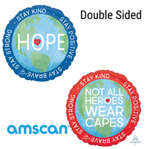 """Hope Heroes Double Sided 18"""" Foil Balloon"""