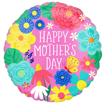 """Mother's Day Party Flowers 18"""" Foil Balloon"""