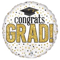 """Congrats Grad Sparkle 18"""" Foil Balloon"""