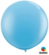 Pale Blue Round 3ft Latex Balloons 2pk