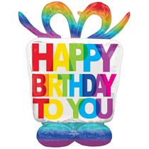 "Happy Birthday Present 50"" AirLoonz Foil Balloon"
