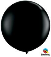 Onyx Black Round 3ft Latex Balloons 2pk