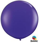 Quartz Purple Round 3ft Latex Balloons 2pk