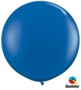 Sapphire Blue Round 3ft Latex Balloons 2pk