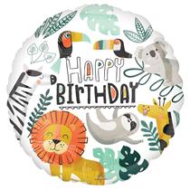 """Get Wild Happy Birthday 18"""" Foil Balloon"""