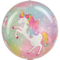 "Enchanted Unicorn 15"" Orbz Foil Balloon"