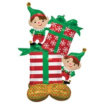 Christmas Elves Stack AirLoonz Foil Balloon