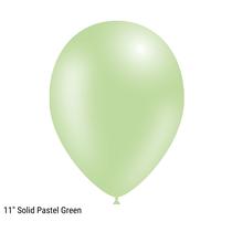 "Decotex Pro 11"" Fashion Solid Pastel Green Latex Balloons 50pk"