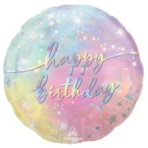 """Luminous Happy Birthday 18"""" Foil Balloon"""