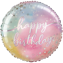 """Luminous Happy Birthday 28"""" Jumbo Foil Balloon"""