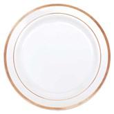 Rose Gold Trim 26cm Plastic Plates 10pk