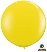 Citrine Yellow Round 3ft Latex Balloons 2pk