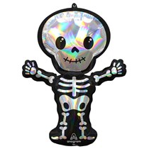 Halloween Iridescent Skeleton Supershape Foil Balloon