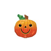 Halloween Smiley Pumpkin Mini Shape Foil Balloon