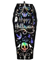 Halloween Iridescent Coffin Supershape Foil Balloon