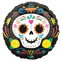 "Halloween Day Of The Dead Skull 18"" Foil Balloon"