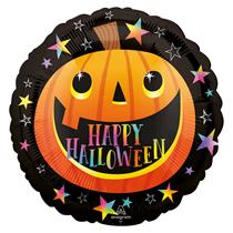 "Halloween Smiley Pumpkin 18"" Foil Balloon"