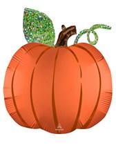 Halloween Satin Infused Pumpkin Supershape Foil Balloon
