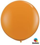 Mandarin Orange Round 3ft Latex Balloons 2pk