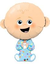 "Baby Boy 38"" Supershape Foil Balloon"