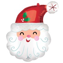 Christmas Smiley Santa Supershape Foil Balloon