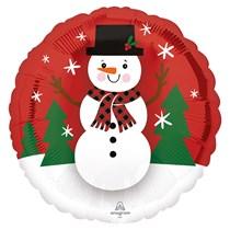 "Christmas Smiley Snowman 18"" Foil Balloon"