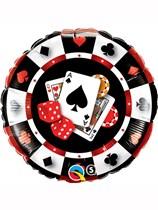 "Casino Poker Night 18"" Foil Balloon"