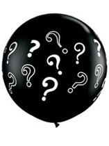 Gender Reveal Onyx Black 3ft Latex Balloons 2pk