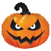 "Halloween Grumpy Pumpkin 22"" Foil Balloon (Loose)"