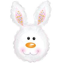 "White Rabbit Bunny Head 30"" Foil Balloon"