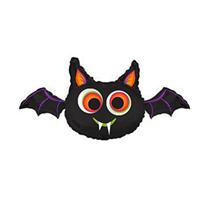 """Halloween Jumbo Big Eyed Bat 32"""" Foil Balloon"""