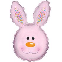 "Pink Rabbit Bunny Head 30"" Foil Balloon"