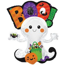 "Halloween Ghost Boo 36"" Foil Balloon"