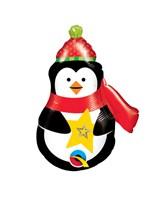 "Christmas Precious Penguin 14"" Air Fill Foil Balloon"