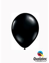"Qualatex Standard 5"" Onyx Black Latex Balloons 100pk"