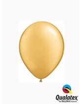 "Qualatex Metallic 5"" Gold Latex Balloons 100pk"