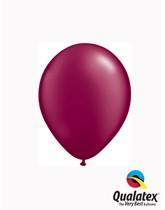 "Qualatex Pearl 5"" Burgundy Latex Balloons 100pk"