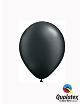 "5"" Pearl Onyx Black Latex Balloons 100pk"