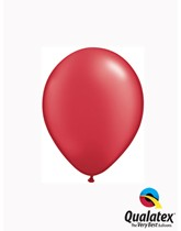"""5"""" Pearl Ruby Red Latex Balloons 100pk"""