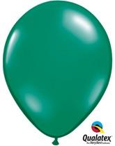 "Qualatex Jewel 11"" Emerald Green Latex Balloons 100pk"