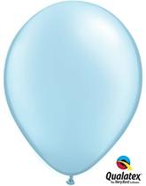 "Qualatex Pearl 11"" Pearl Light Blue Latex Balloons 100pk"