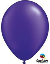 "11"" Pearl Quartz Purple Latex Balloons 100pk"